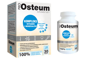 ProOSteum, Wapń, Cynk i Kompleks Witamin( D,K,A,C,B5) 100% RWS suplemnent diety 120 tab.